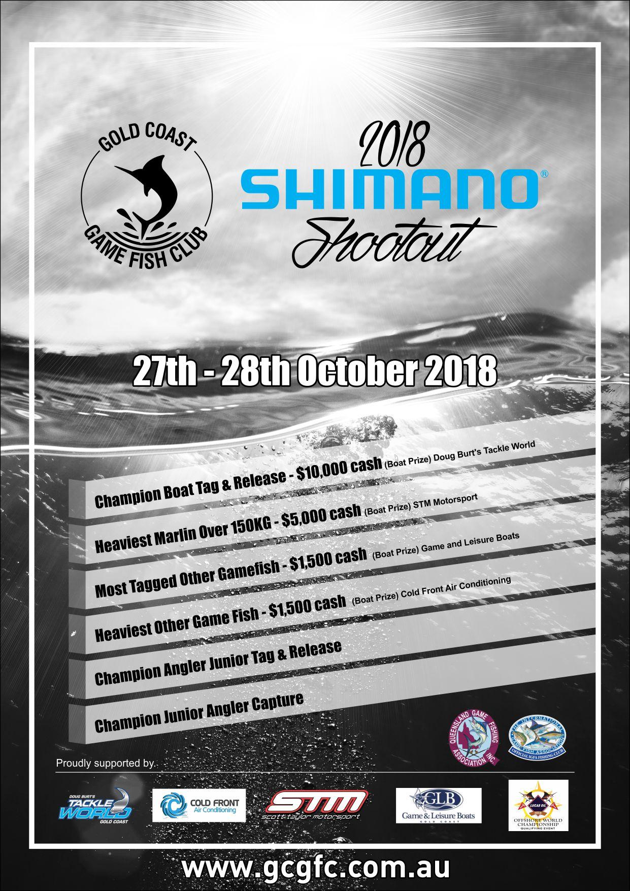 2018 Shimano Shootout – Now 26-28th October
